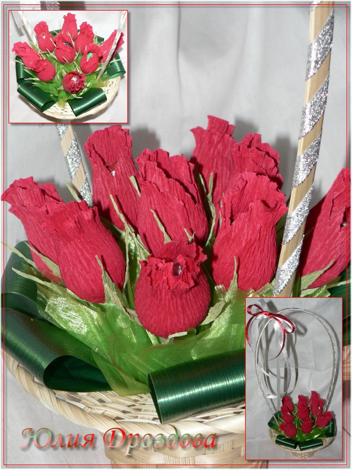 Букеты роз из конфет своими руками с пошаговым фото