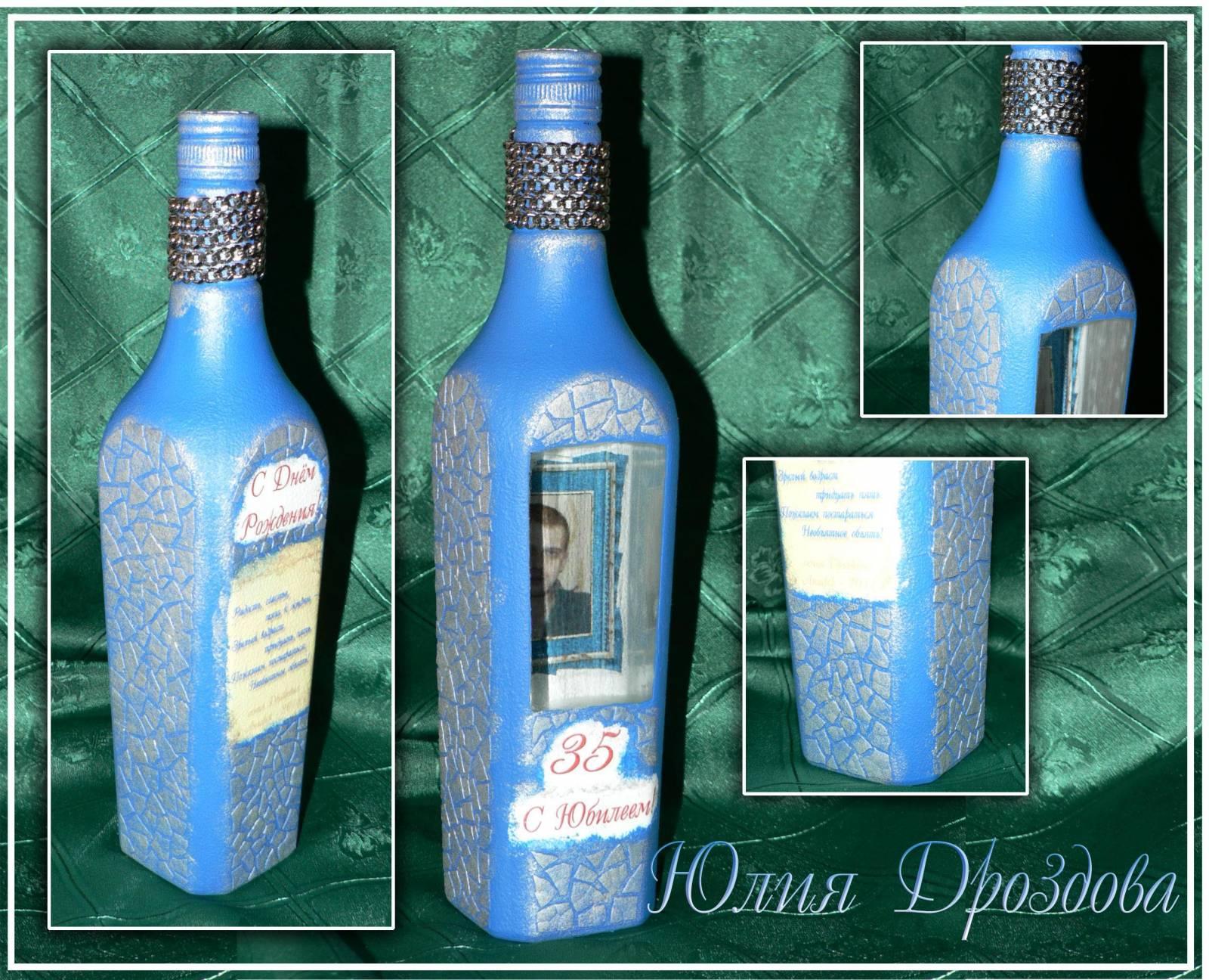 100 лучших идей: декор бутылок своими руками на фото 94