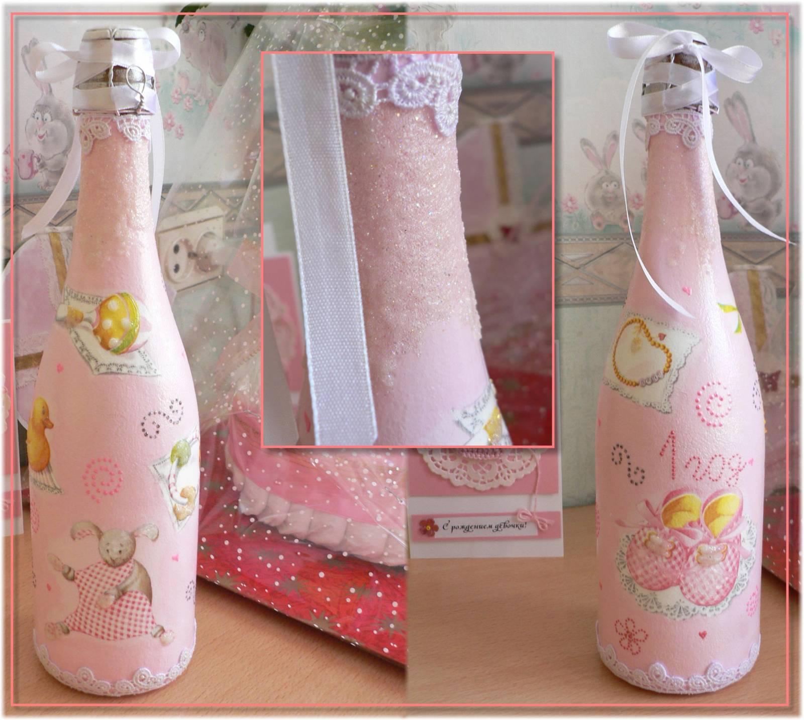 Как украсить бутылку шампанского на Новый год, свадьбу, День